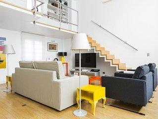 Luxury Artist 1BR, loft  Apt- private street- Saint Honore