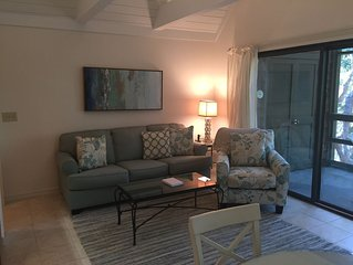 Newly renovated 1-bedroom villa w/ resort privileges & very close beach access