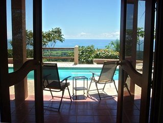A True Costa Rican Adventure: Large Pool, OceanView Sunsets Jungle  Private Safe