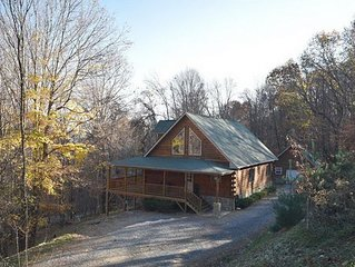 Beautiful Log Cabin with Two Master Suites on 4.5 Wooded Acres