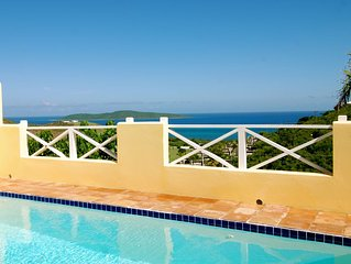 Premium Villa for 2, Private HEATED Pool, Big Ocean & Buck Island Views