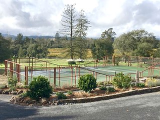 Tennis paradise in sonoma wine country
