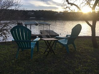 Enjoy our beautifully remodeled Lake Buchanan Waterfront home & multiple decks
