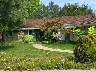 PEBBLE HILL - wonderful one-level home between Goleta and Santa Barbara