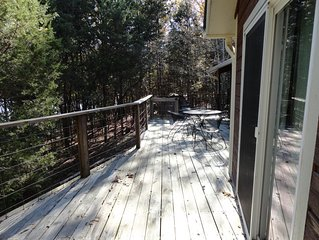 Back Deck - (Most furniture is kept under covered deck).