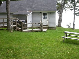 Private Beach Cottage is walking distance to Roque Bluffs State Park.