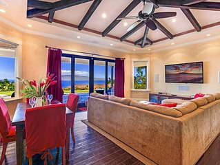 Private Villa with Gorgeous Ocean & Island Views, Pool, Waterfall & Spa
