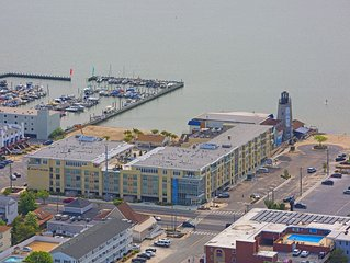 Luxury Condo 1 block from the Beach!!  Great Location with Marina & Bay Views.