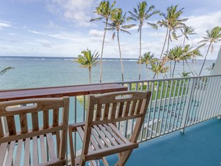 Beachfront Condo in Punaluu. Updated! Clean beaches to walk/swim! Escape Crowds!