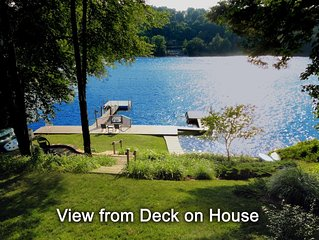 Direct Waterfront on Candlewood Lake, 2 Private Docks,  5 Bedrooms, Sleeps 10