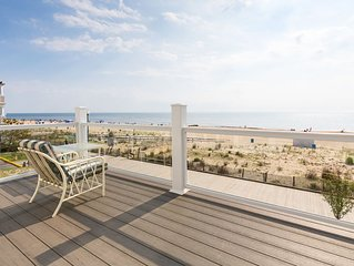 In Downtown Rehoboth Beach with View Of Boardwalk, Sand, Ocean Rents Sun to Sun