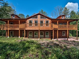 8 BR 4 BA SECLUDED 4000 SF. BACHELOR PARTIES/REUNIONS HOT TUB FREE LINENS/WIFI!