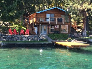 Low Bank Waterfront Cabin on Lake Chelan