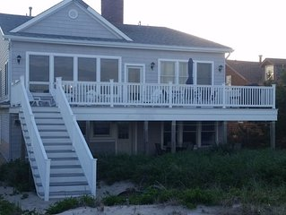 Great house in dunes of private beach. No badges required.