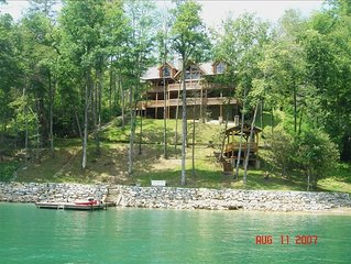 Impeccable 5,800 Sq Ft. Lakefront  Log Home