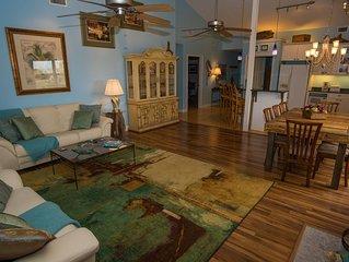 Enchanting Spacious Beach House With Hot Tub, Game Room, Tiki Bar & Fishing Dock