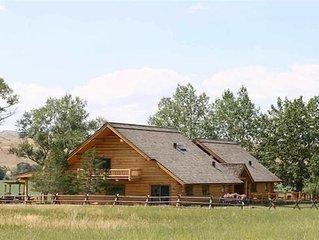A spectacular log home with awe inspiring views