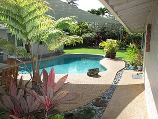1 house from the beach - solar heated pool - AC - Contact Owner for Rates