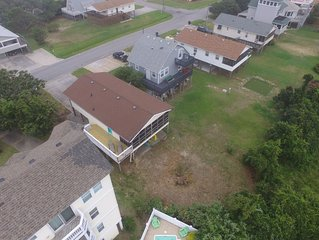The Getaway is traditional OBX beach box, close to beach, with pool and hot tub