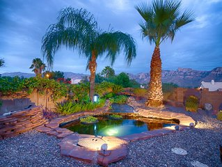 MOUNTAIN VIEWS, KOI POND, HOT TUB, POOL, 1GIG WIFI, 1/2 mile Starbucks/Safeway!!