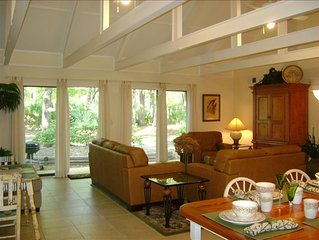 "Steps to Beach. Spacious Private Ranch Villa. Free Bikes. Grill. Pools. 70"" TV"