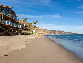 Fabulous Malibu beach house on a dry sandy beach