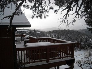 Private Rental Cabin Secluded at 7400 Ft on Mountainside, Great View, Hot Tub