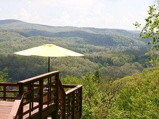 Long Range Views/Grndfthr Mntn/Pet Friendly/Fireplace/Linville Township