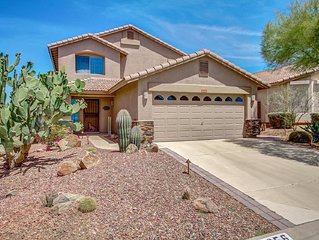 Beautiful Gold Canyon 3bd home , w/heated pool , hot tub, & spectacular Mt views