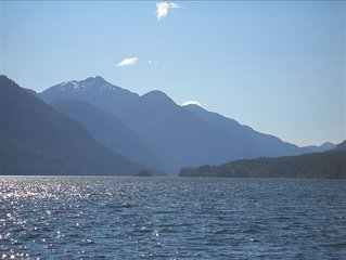 Million Dollar View! Clear, Clean Sproat Lake. $2200.00 Canadian/Week