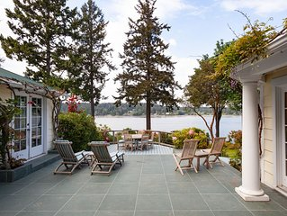 Waterfront Home on Private Acre Property on Quartermaster Harbor