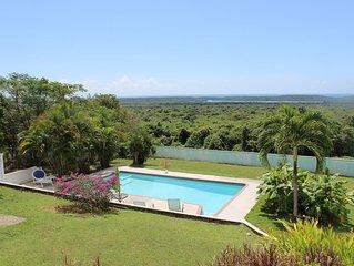 Stunning views of the Caribbean Sea, beautiful inground pool!