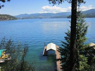 The Cabin On Hayden-Cozy Lakefront Retreat/Fabulous Views, Boat Dock, Deep Water