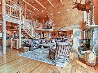 Magnificent Lakefront Adirondack Log Home on Lake George
