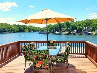 8MM! Lake view / cove fun! Perfect for families-2 kitchens, 3 decks & 2 docks!