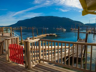Stilt home on the shores of beautiful Cowichan Bay