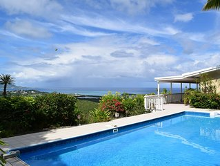 Panoramic View - Christiansted To Buck Island. Beautiful East End Villa Sublime!