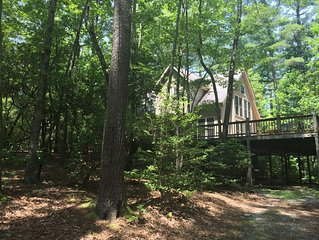 4 BR/2.5 BA Cabin - a Mountain Hideaway on 14.5 Acres of Trees