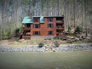 Waterfront Lodge- Trout Trap - Big Porches, Hot Tub, Pool Table, Relax in Style