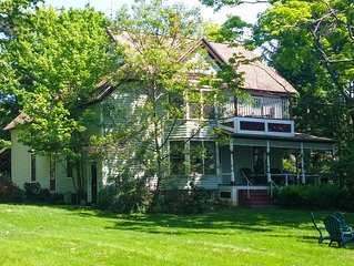 Lovely and private victorian farmhouse on beautiful grounds with pool.