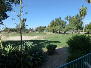 Superstition Lakes Golf Condo with Golf Course Views from Patio!