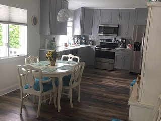 Newly renovated Beautiful Single home, 1 block from beach