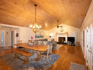 **Added Central AC**Peaceful waterfront retreat full of attractions year round!