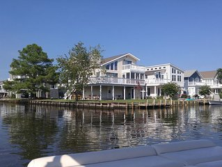 Waterfront corner property with boat dock, 2 blocks to beach, Free Beach Parking