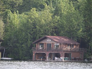 Adirondack Cabin And Lakeside Boathouse