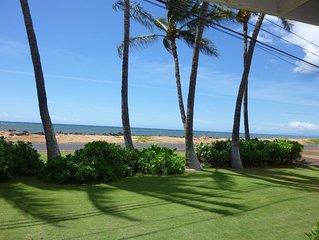 Ocean Front..Hale Kekaha Palms at the Beach...Air Conditioned  -  TVNCU #1004