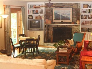Lakefront Mountain Getaway.  Quiet cove perfect for water activities, fire pit.