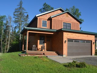 NEW! Adirondack home in Lake Placid Village! 4 Bedrooms, 3.5 Bath, Water view!