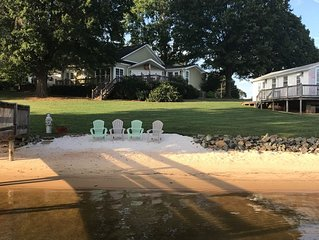Escape To The Lake! Luxurious Deep Water Lake Norman Home w/Private Beach & Dock