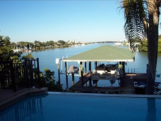 Luxury Waterfront on Deep Water Canal with Pool and Boat Dock